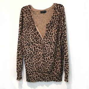 Cheetah print cardigan plus size